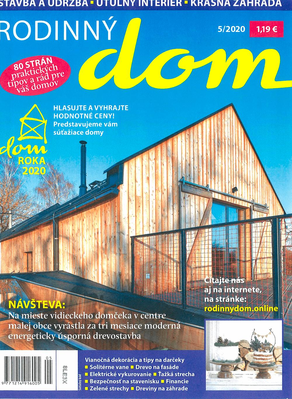 Titulka časopisu Rodinný dom