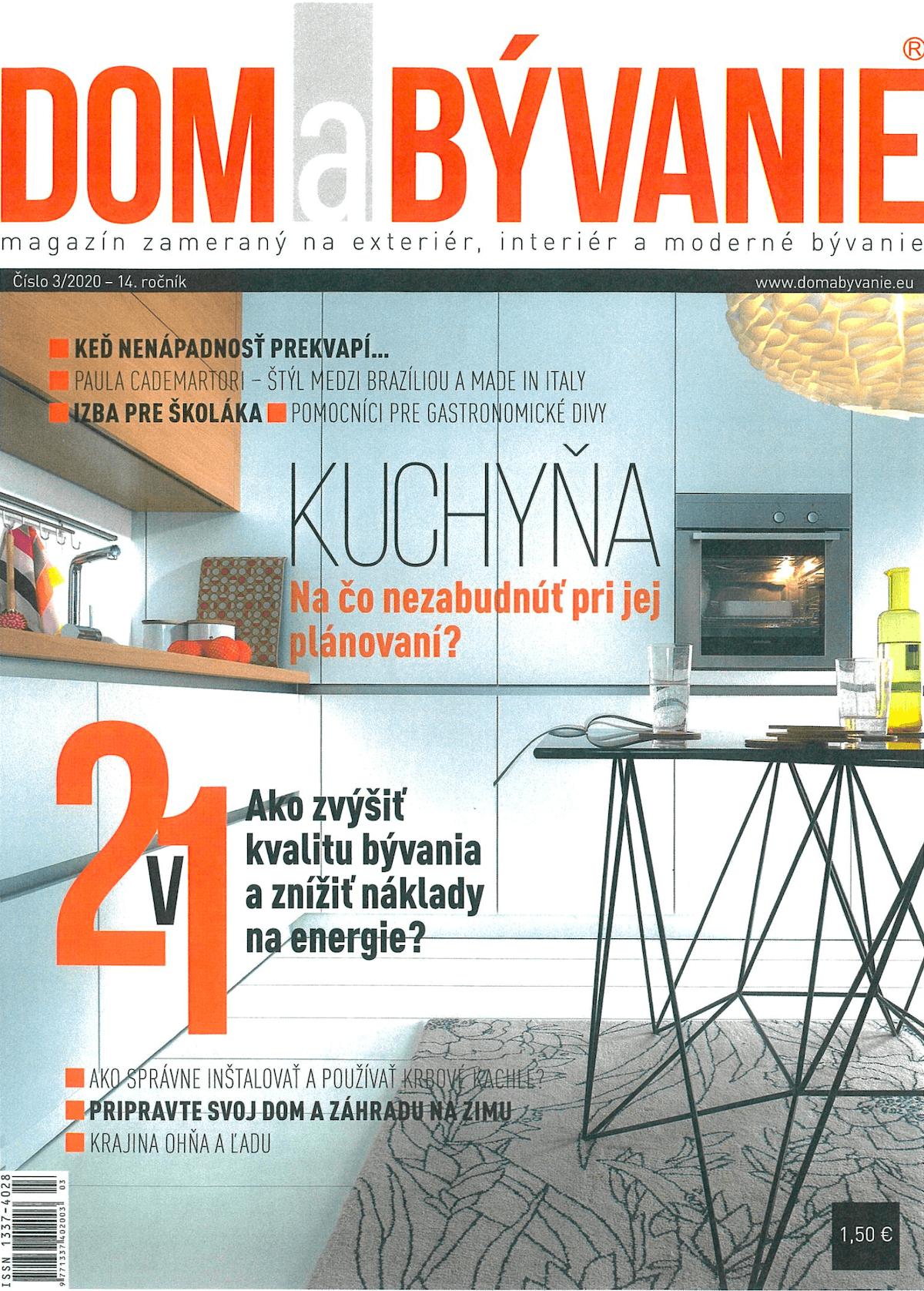 Titulka časopisu Dom a Bývanie