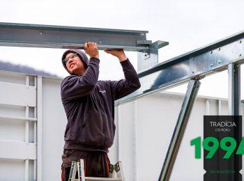 Montovanie radovej garáže