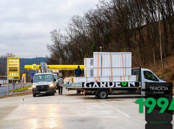 Dodávky GARDEON v montážny deň