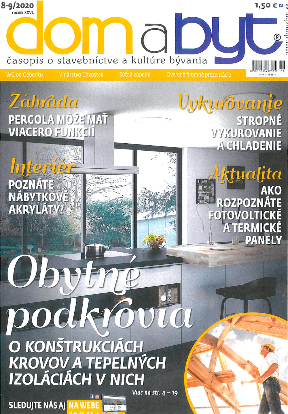 Titulka časopisu dom a byt