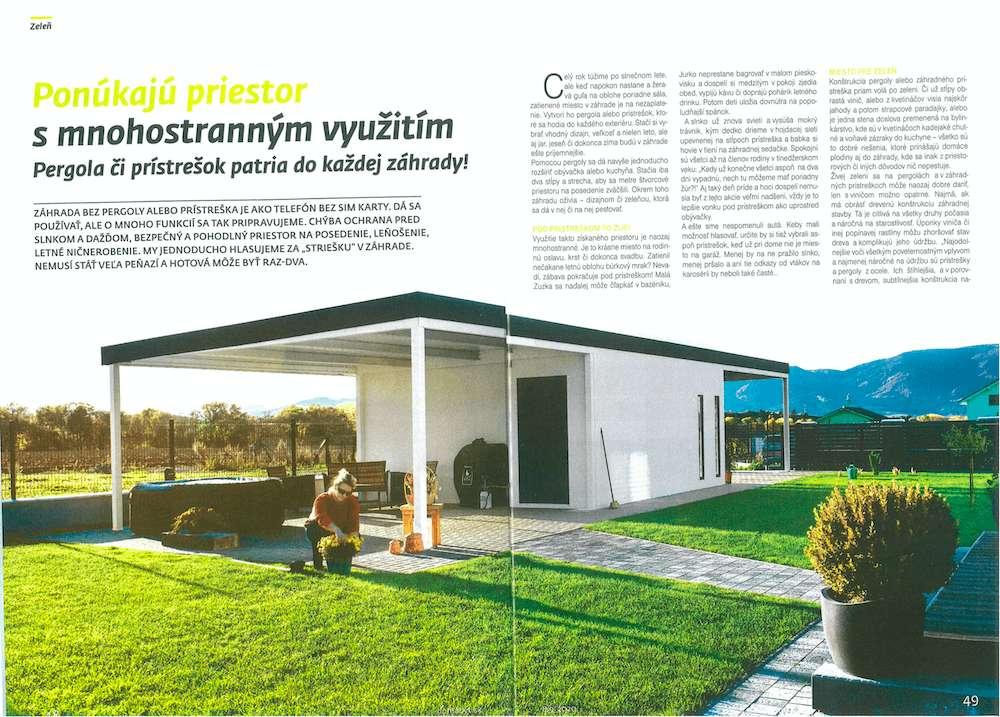 Článok v časopise dom a byt