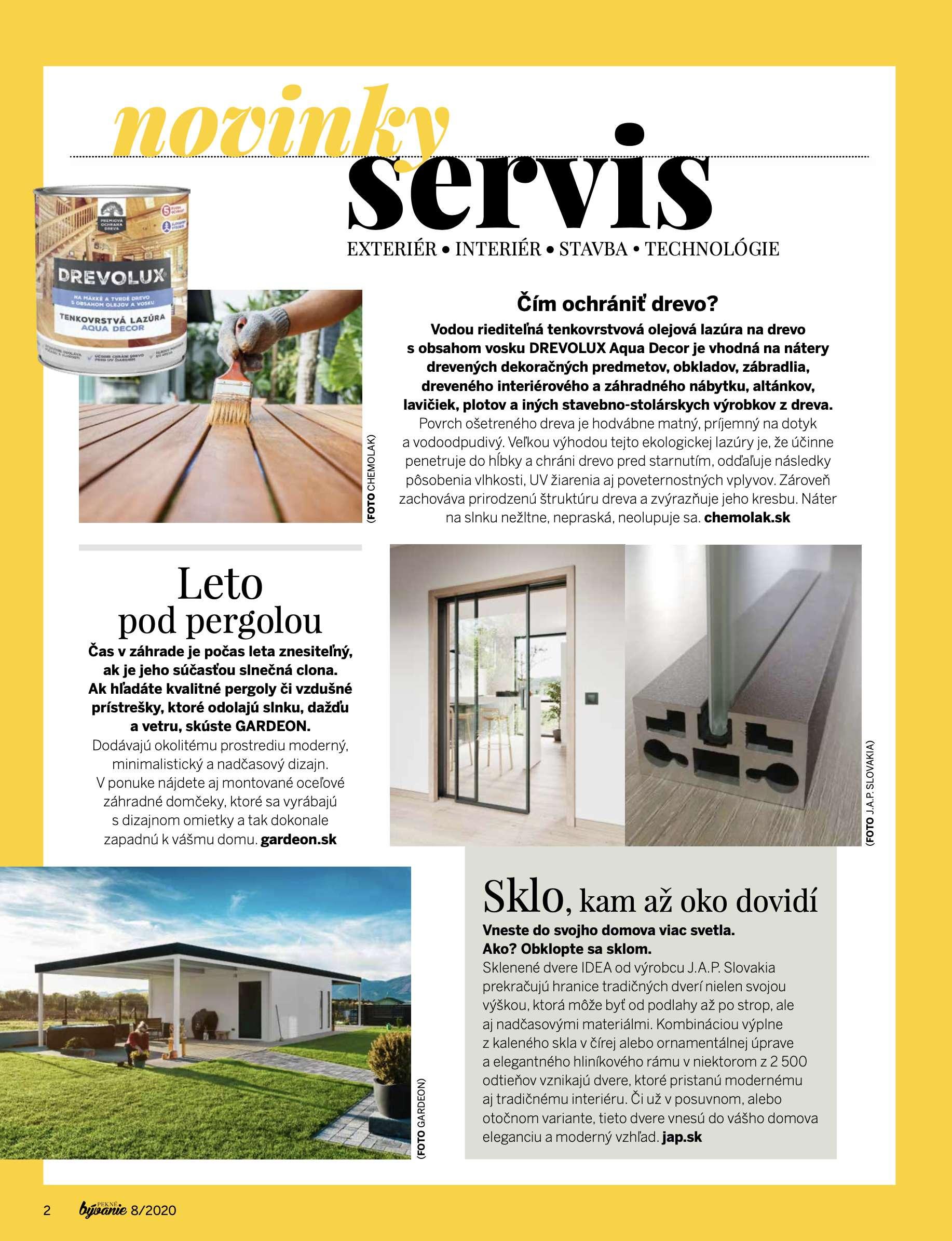 Článok v časopise Pekné Bývanie