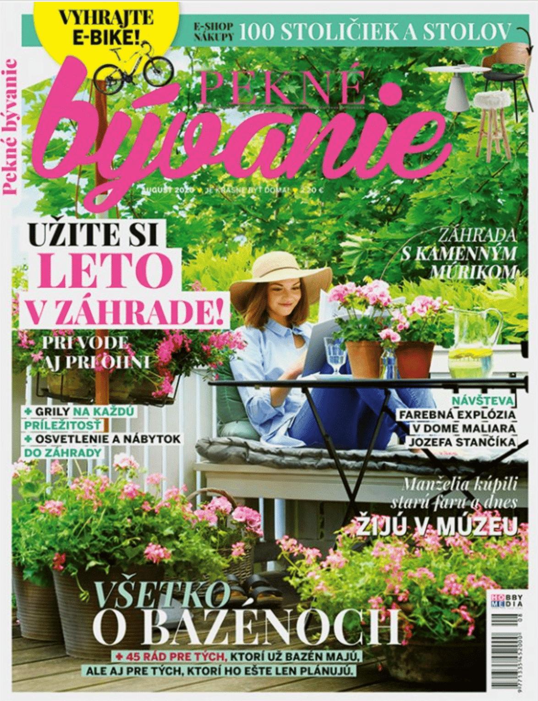 Titulka časopisu Pekné Bývanie