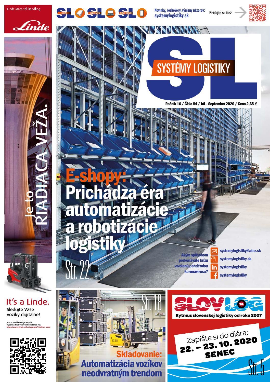 Titulka časopisu Systémy Logistiky