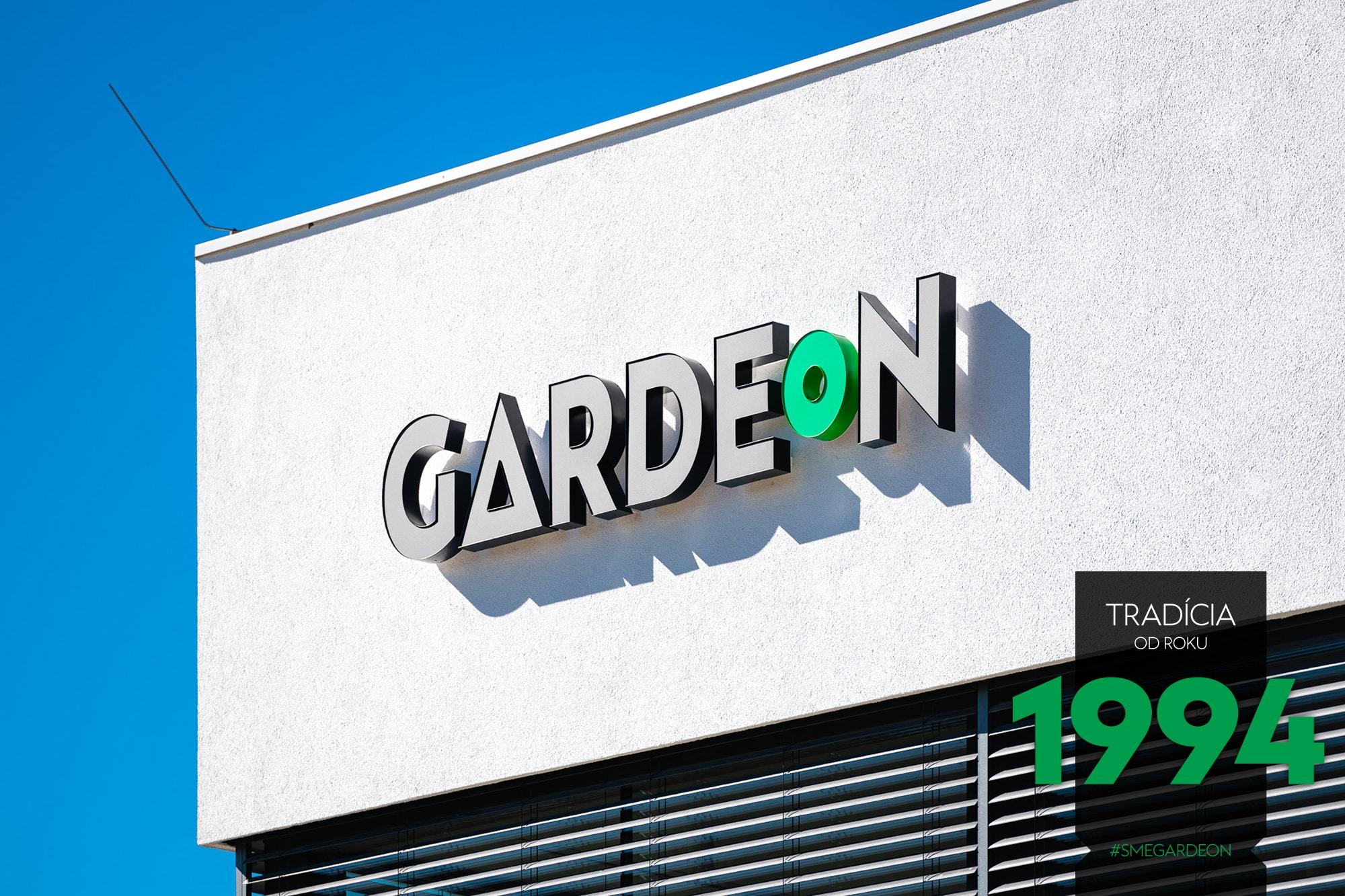 Logo GARDEON na budove firmy GARDEON