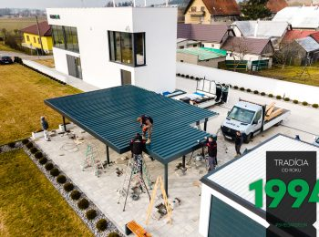 Montáž strechy prístrešku SIEBAU