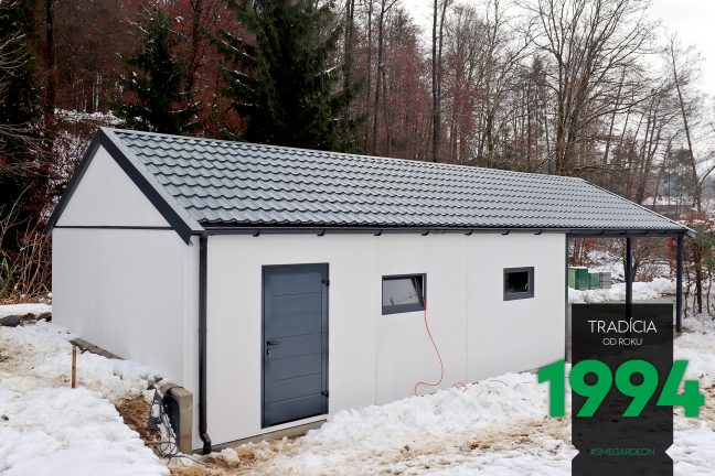 Atypická garáž so sedlovou strechou