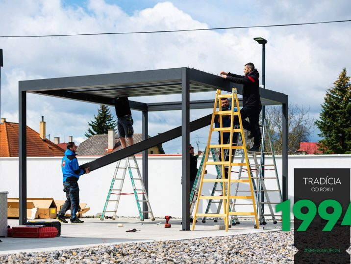 Montáž strechy bioklimatickej pergoly