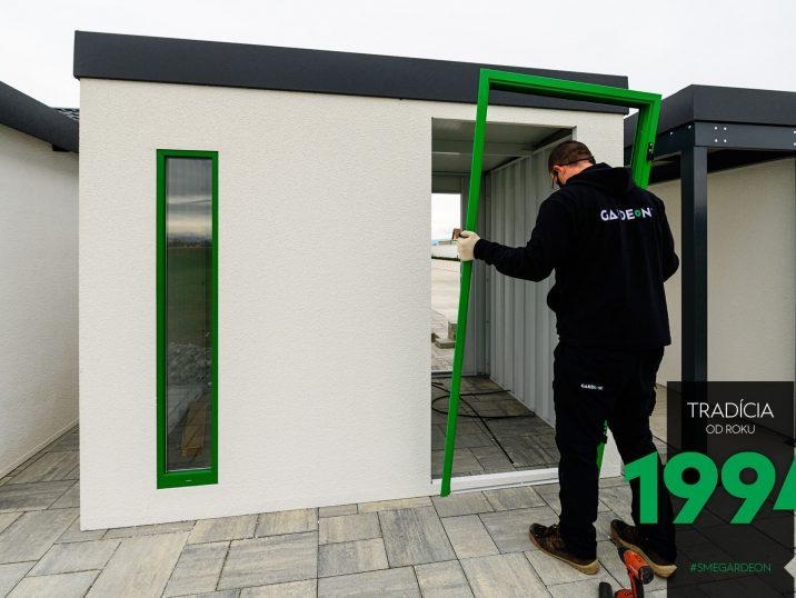 Zelený rám dverí GARDEON
