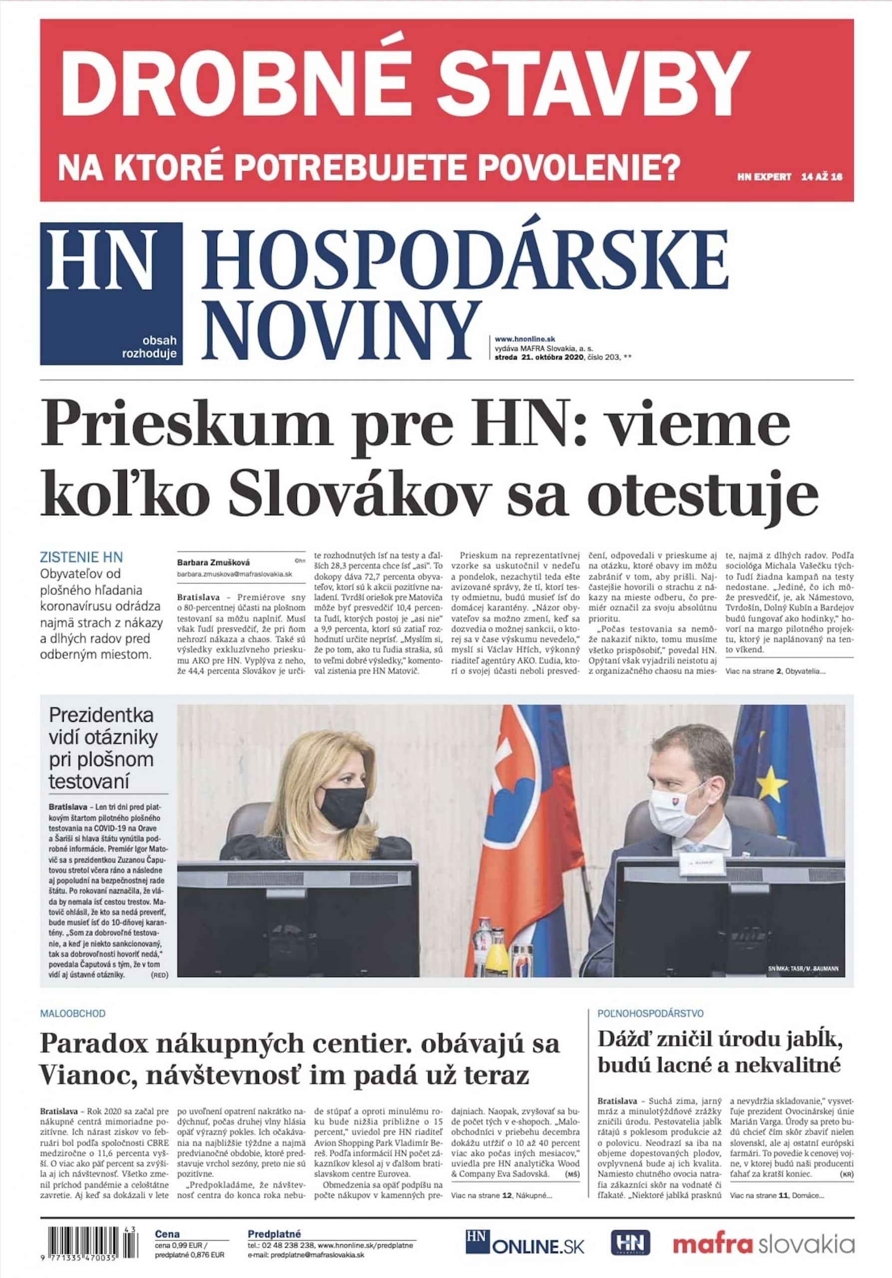 Gardeon v Hospodárskych Novinách