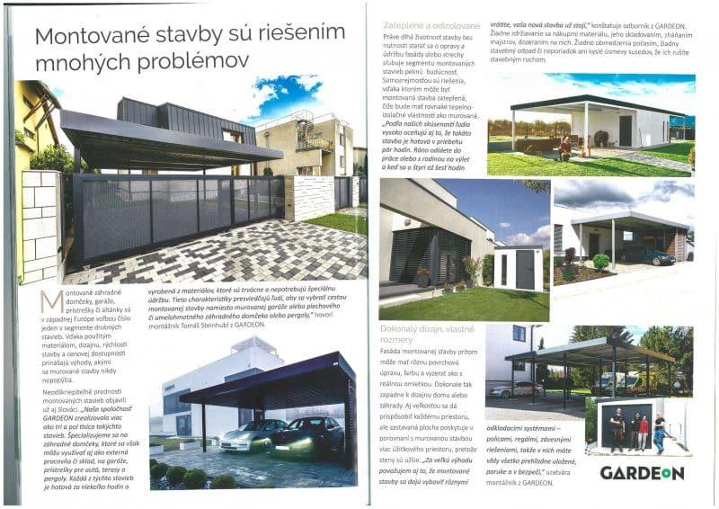 Článok o GARDEONe v časopise Top Stavebné