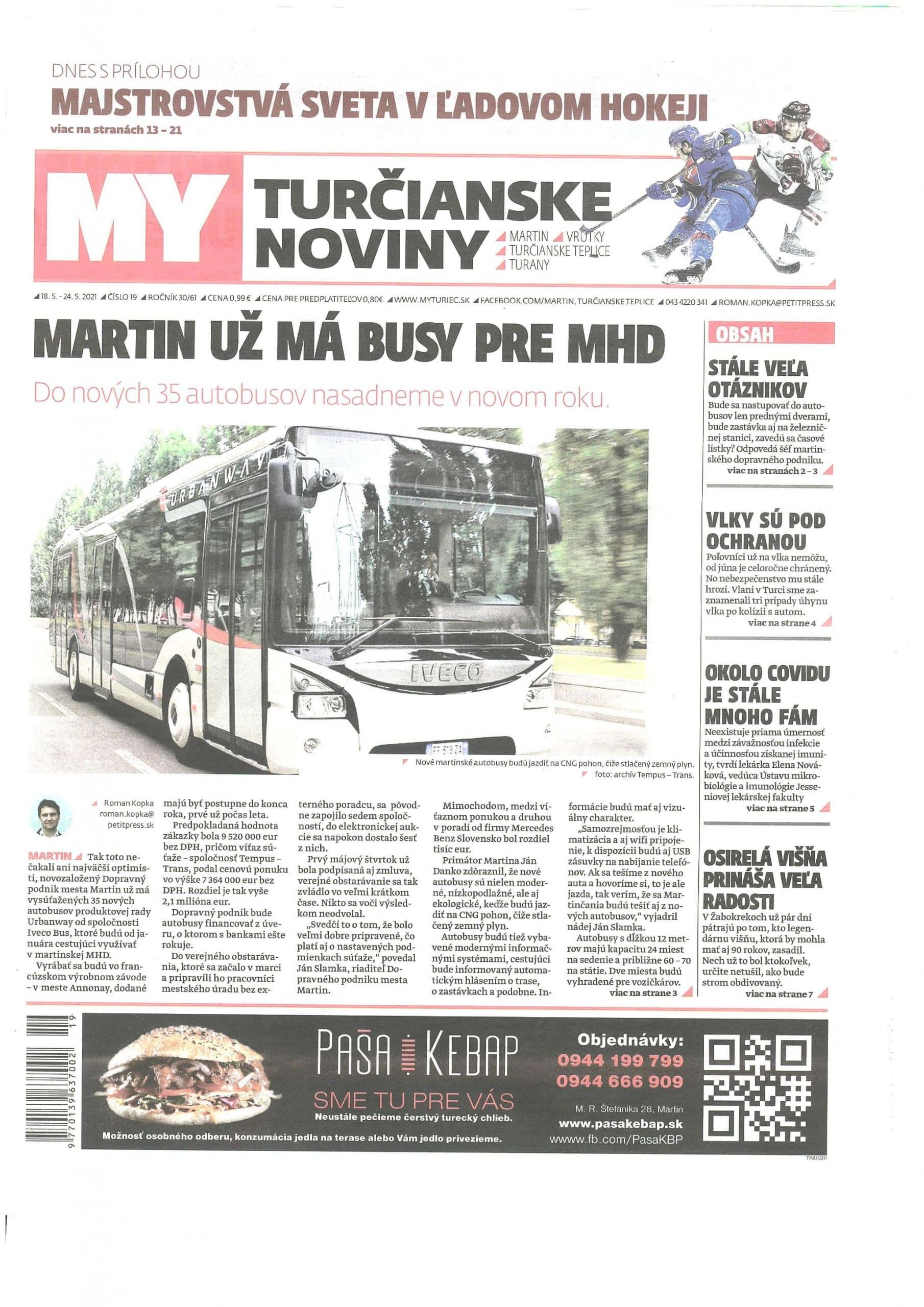 GARDEON v Turčianských Novinách