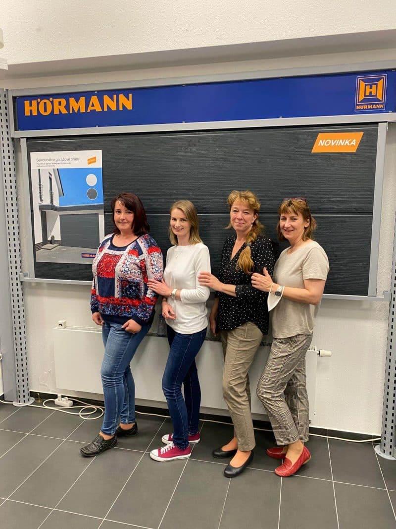 Náš tím na školení Hörmann v Senci