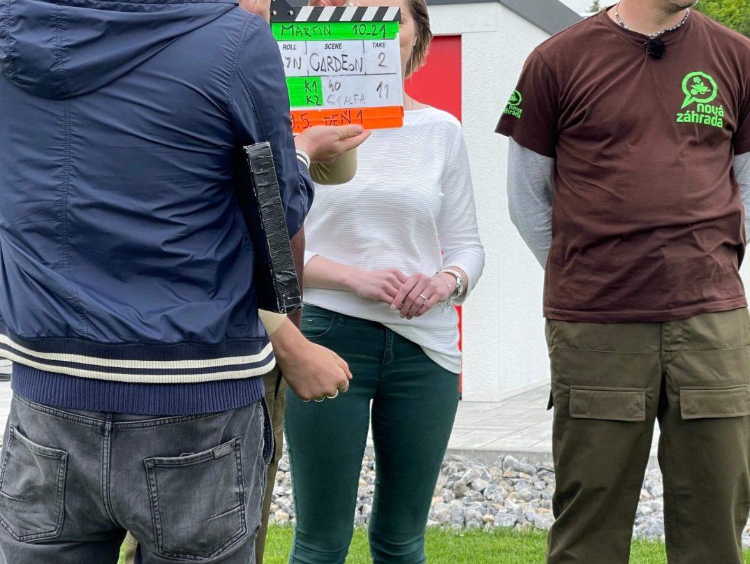 Klapka na natáčanie Novej Záhrady v Gardeone