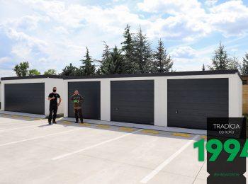 Spokojný zákzaník s montážnikom pri radovej garáži