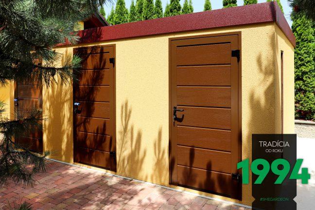 Záhradný domček s tromi dverami