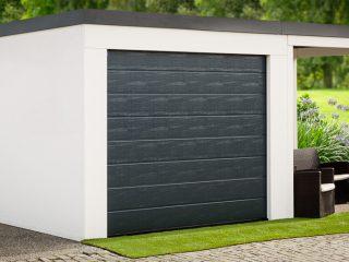 Plechová garáž s prístreškom pre jedno auto