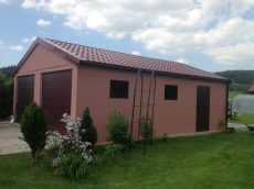 Montovaná dvojgaráž so sedlovou strechou