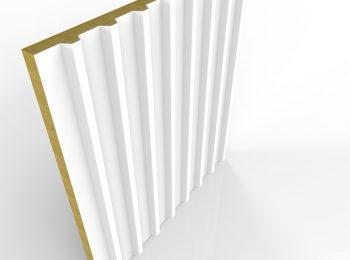 Zateplená strešná krytina v bielej farbe
