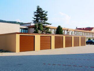 Montované radové garáže s pultovou strechou