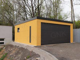 Montovaná garáž pre dve autá s pultovou strechou