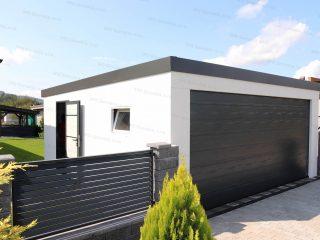 Dvojgaráž s bočnými dverami a oknom Slovaktual