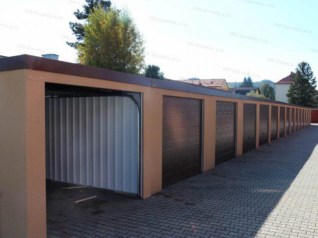 Montovaná radová garáž v nezateplenej verzii