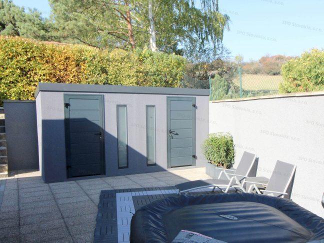 Záhradný domček s dvoma dverami Hormann LPU40