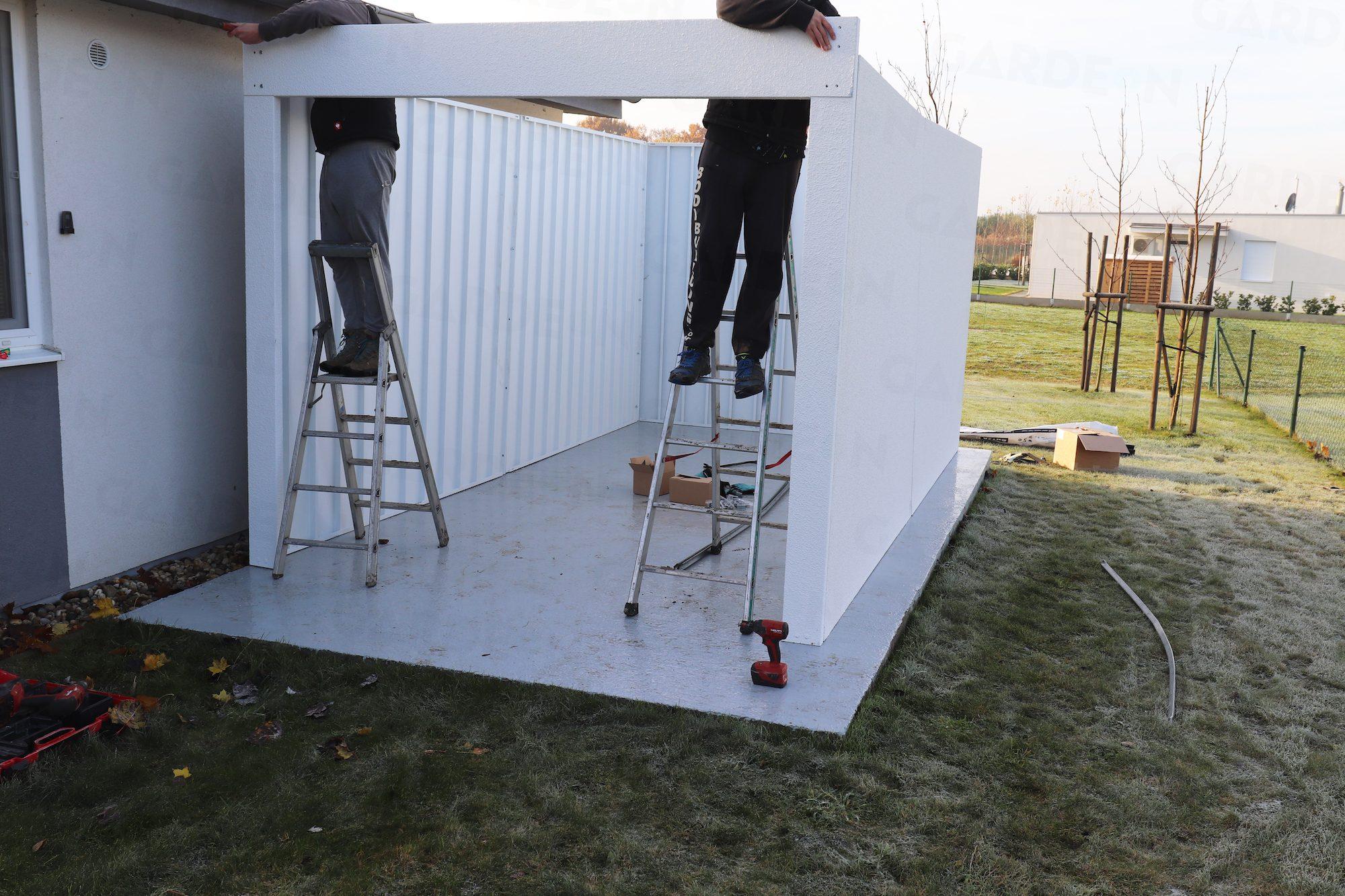 Montáž stien garáže GARDEON