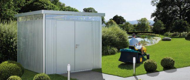 Dizajnový záhradný domček na náradie