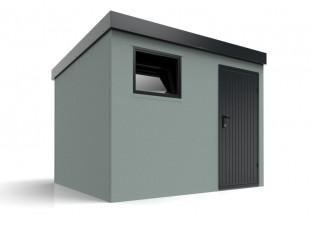 Záhradný domček s pultovou strechou