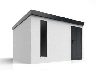 Montovaný záhradný domček s pultovou strechou
