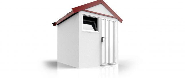 Záhradný domček s tehlovou strechou