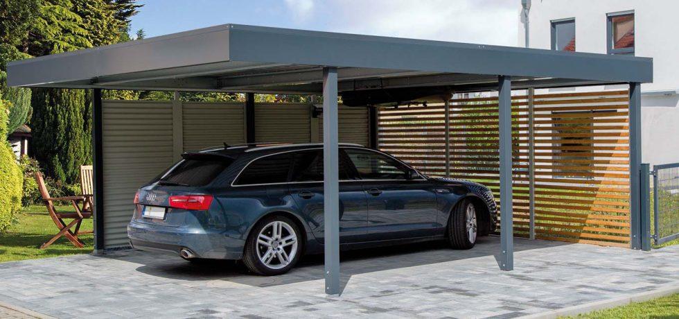 Moderný prístrešok SIEBAU pre jedno auto