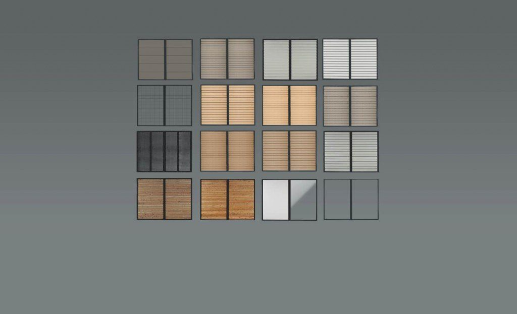 Dizajnové výplne na prístrešok SIEBAU