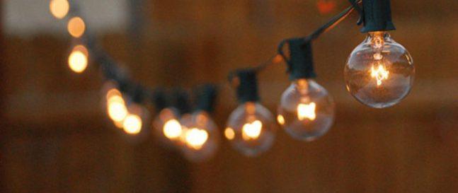 Žiarovkové osvetlenie na záhradu