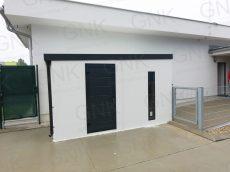 Bezúdržbový záhradný domček na náradie s dverami Hormann LPU40