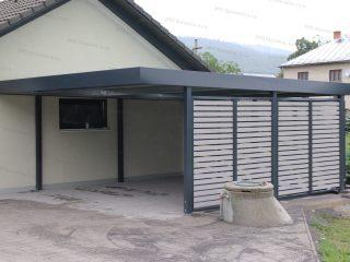 Dizajnový prístrešok SIEBAU s antracitovou strechou
