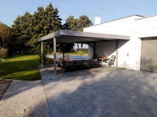 Dizajnový prístrešok SIEBAU na záhradné posedenie