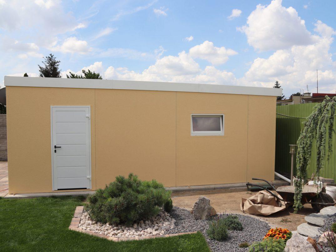Montovaná garáž GARDEON v žltej farbe
