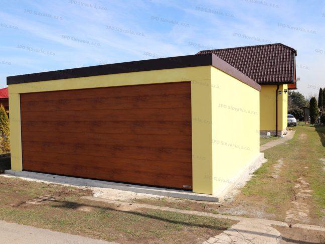 Montovaná garáž GARDEON pre dve autá pri rodinnom dome