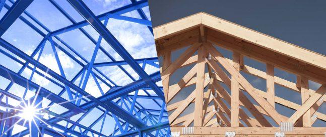 Oceľová a drevená konštrukcia