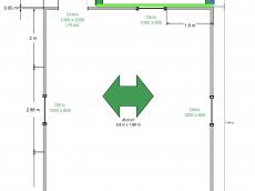 Nákres atypickej garáže GARDEON