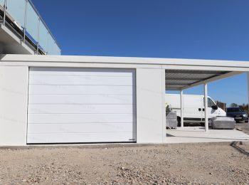 Garáž GARDEON pre jedno auto v bielej farbe