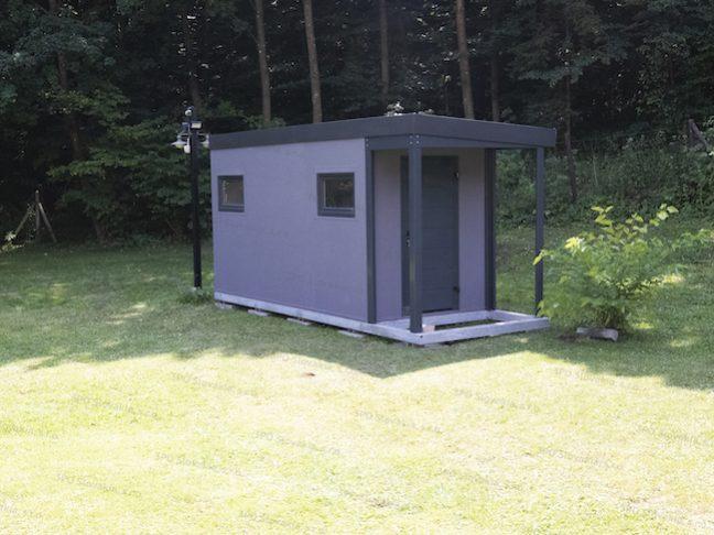 Montovaný záhradný domček GARDEON s antracitovým príslušenstvom