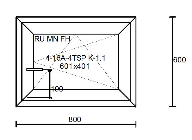 Konštrukčné rozmery okna 800x600