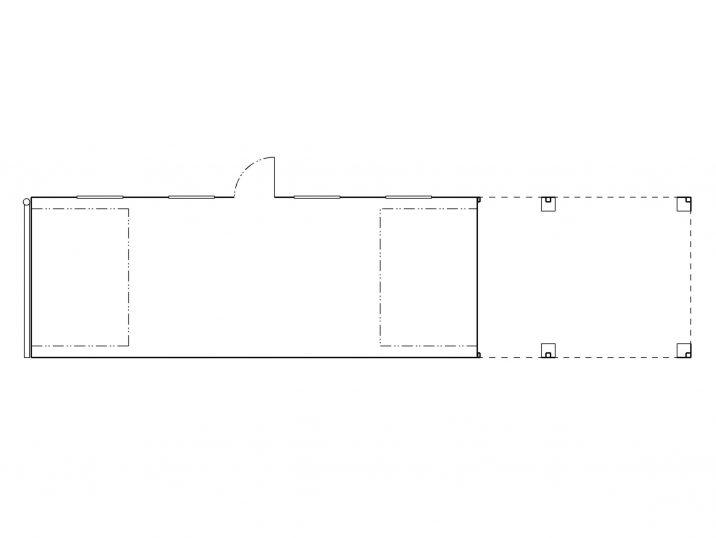 Pôdorys montovanej garáže