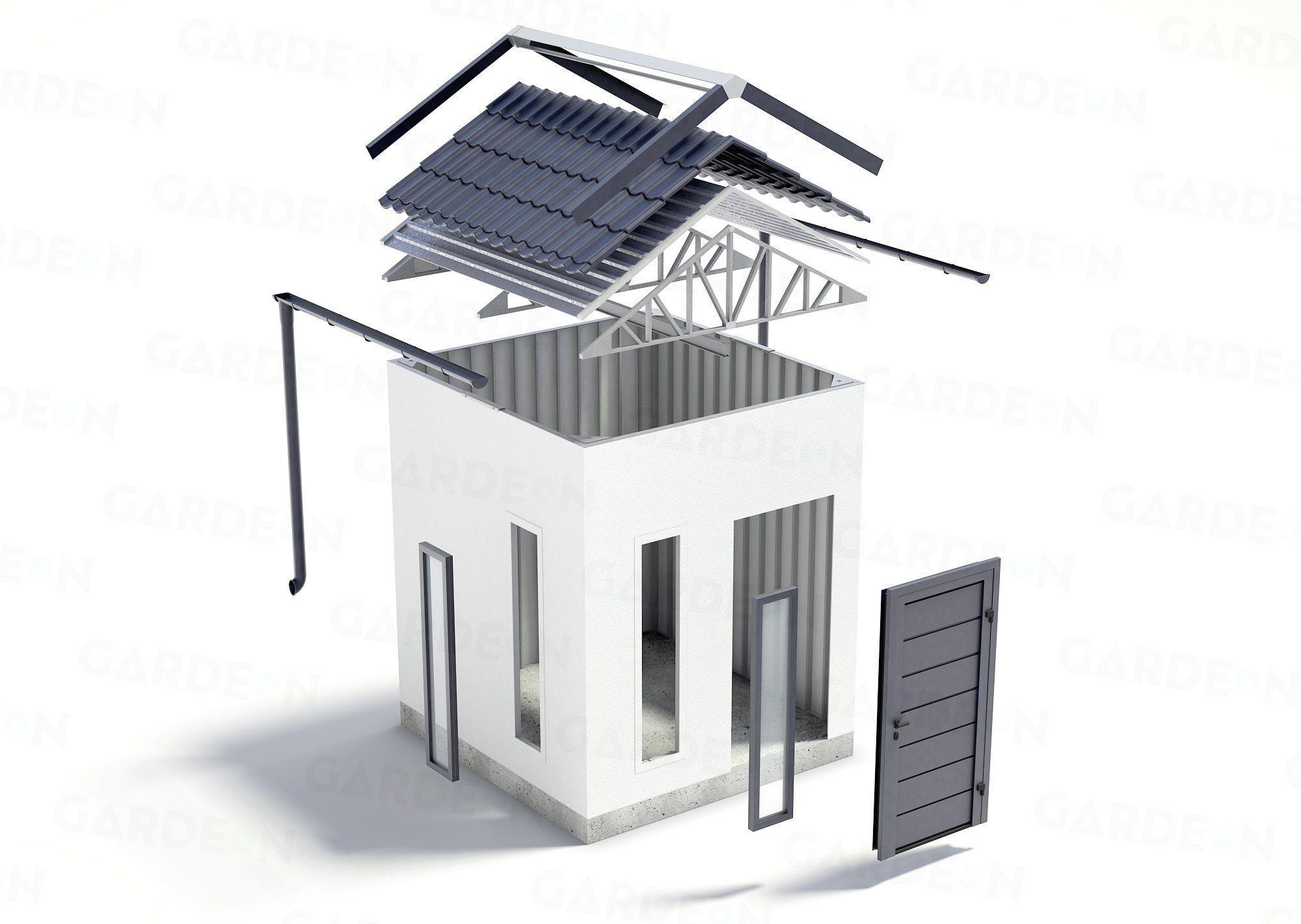 Rozsyp záhradného domčeka GARDEON so sedlovou strechou