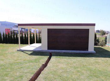 Montovaná garáž GARDEON s prístreškom na ľavej strane
